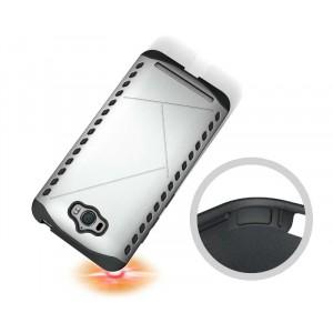 Противоударный двухкомпонентный силиконовый матовый непрозрачный чехол с поликарбонатными вставками экстрим защиты для ASUS ZenFone Max