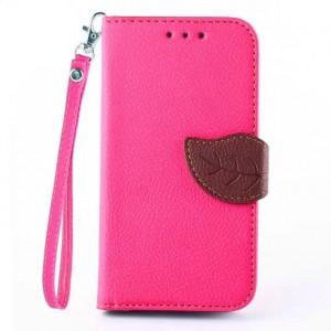 Чехол портмоне подставка на силиконовой основе на дизайнерской магнитной защелке для Samsung Galaxy Core 2 Розовый