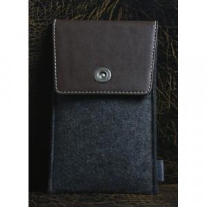 Войлочный мешок с кожаной отделкой и отсеком для карт для Huawei Honor 4C