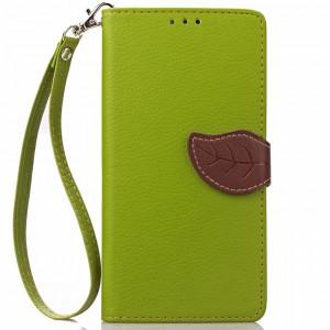 Чехол портмоне подставка на силиконовой основе на дизайнерской магнитной защелке для Huawei Honor 4C  Зеленый