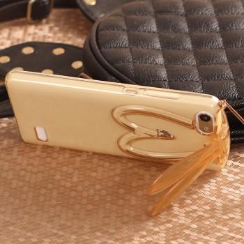 Силиконовый матовый полупрозрачный дизайнерский фигурный чехол с встроенной ножкой-подставкой для Huawei Honor 4C