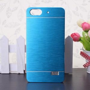 Пластиковый непрозрачный матовый чехол текстура Металл для Huawei Honor 4C