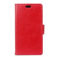 Глянцевый чехол портмоне подставка на силиконовой основе на магнитной защелке для Alcatel Pixi 4 (5) 4G 5045d 5045x Красный