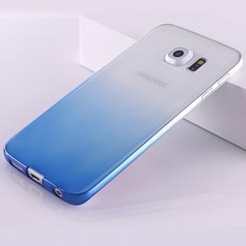 Силиконовый матовый полупрозрачный градиентный чехол для Samsung Galaxy S6 Edge