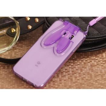 Силиконовый матовый полупрозрачный дизайнерский фигурный чехол с встроенной ножкой-подставкой для Samsung Galaxy S6 Edge