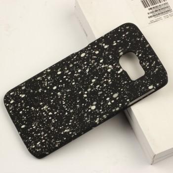 Пластиковый непрозрачный матовый чехол с голографическим принтом Звезды для Samsung Galaxy S6 Edge