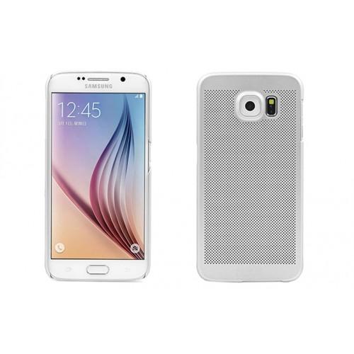 Пластиковый непрозрачный матовый чехол текстура Точки для Samsung Galaxy S6 Edge