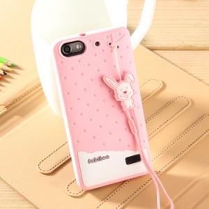 Силиконовый матовый непрозрачный дизайнерский фигурный чехол для Huawei Honor 4C Розовый