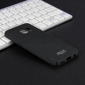 Пластиковый непрозрачный матовый чехол с повышенной шероховатостью для Samsung Galaxy S7  Черный