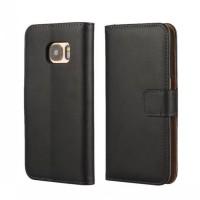 Чехол портмоне подставка на пластиковой основе на магнитной защелке для Samsung Galaxy S7 Черный