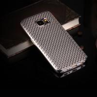 Силиконовый матовый непрозрачный чехол с текстурным покрытием Металлик для Samsung Galaxy S7 Серый