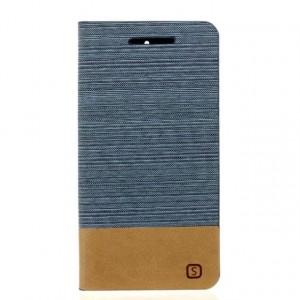 Чехол горизонтальная книжка подставка текстура Линии на силиконовой основе с отсеком для карт и тканевым покрытием для ASUS ZenFone Go 4.5