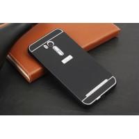 Двухкомпонентный чехол c металлическим бампером с поликарбонатной накладкой для ASUS Zenfone Go 5.5/Go TV Черный