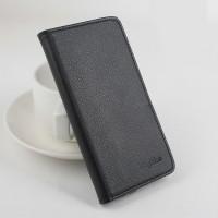 Чехол портмоне подставка на силиконовой основе на магнитной защелке для ASUS Zenfone Go 5.5/Go TV Черный