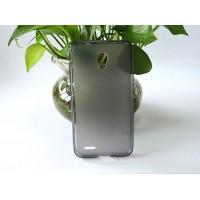 Силиконовый матовый полупрозрачный чехол для Alcatel OneTouch Go Play Серый