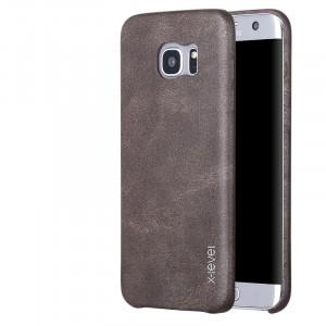 Чехол накладка текстурная отделка Кожа для Samsung Galaxy S7 Edge  Коричневый