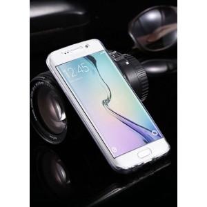 Двухкомпонентный силиконовый матовый полупрозрачный чехол горизонтальная книжка с акриловой полноразмерной транспарентной смарт крышкой для Samsung Galaxy S7 Edge Белый