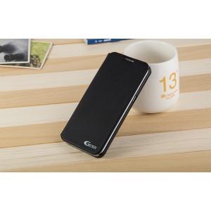 Чехол горизонтальная книжка подставка на пластиковой основе для Samsung Galaxy S7 Edge  Черный