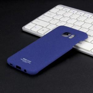 Пластиковый непрозрачный матовый чехол с повышенной шероховатостью для Samsung Galaxy S7 Edge  Синий
