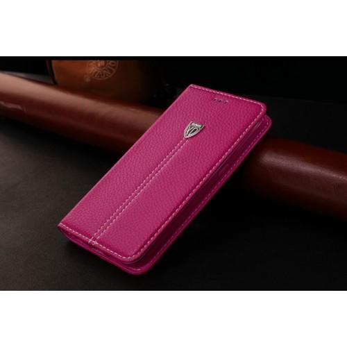 Кожаный чехол горизонтальная книжка подставка с отделкой Линии на силиконовой основе с отсеком для карт для Samsung Galaxy S7 Edge