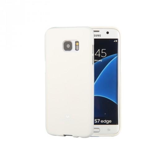 Силиконовый глянцевый непрозрачный чехол для Samsung Galaxy S7 Edge  Черный