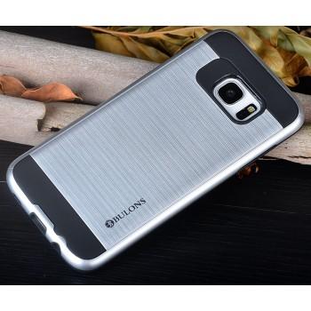 Противоударный двухкомпонентный силиконовый матовый непрозрачный чехол с поликарбонатными вставками экстрим защиты для Samsung Galaxy S7 Edge