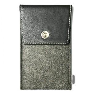 Войлочный мешок с кожаной отделкой и отсеком для карт для Huawei Honor 5X  Черный