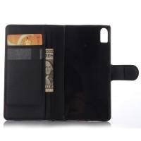 Чехол портмоне подставка на пластиковой основе на магнитной защелке для Lenovo Vibe Shot  Черный