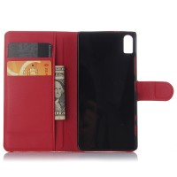 Чехол портмоне подставка на пластиковой основе на магнитной защелке для Lenovo Vibe Shot  Красный