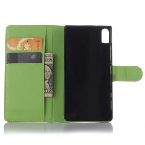 Чехол портмоне подставка на пластиковой основе на магнитной защелке для Lenovo Vibe Shot  Зеленый