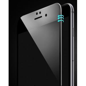 Ультратонкая износоустойчивая сколостойкая олеофобная защитная объемная стеклянная панель на плоскую и изогнутые поверхности экрана для Iphone 6/6s Черный
