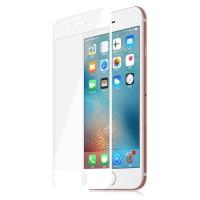 Ультратонкая износоустойчивая сколостойкая олеофобная защитная объемная стеклянная панель на плоскую и изогнутые поверхности экрана для Iphone 6/6s Белый