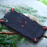 Силиконовый матовый непрозрачный дизайнерский фигурный чехол для Sony Xperia Z1  Красный