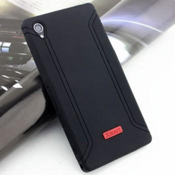 Силиконовый матовый непрозрачный чехол с нескользящими гранями для Sony Xperia Z1