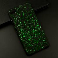 Пластиковый непрозрачный матовый чехол с голографическим принтом Звезды для Lenovo S90  Зеленый