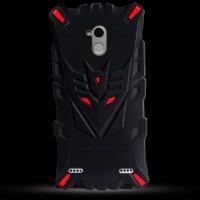 Силиконовый матовый непрозрачный дизайнерский фигурный чехол для ZTE Blade V7 Lite  Красный