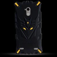 Силиконовый матовый непрозрачный дизайнерский фигурный чехол для ZTE Blade V7 Lite  Желтый