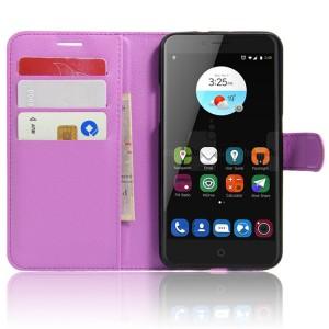 Чехол портмоне подставка на силиконовой основе на магнитной защелке для ZTE Blade V7  Фиолетовый
