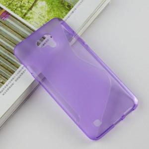 Силиконовый матовый полупрозрачный чехол с дизайнерской текстурой S для LG X cam