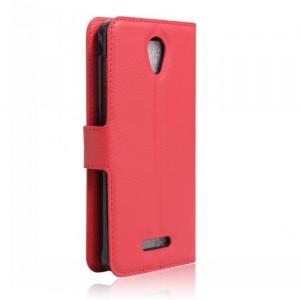 Чехол портмоне подставка на силиконовой основе на магнитной защелке для Alcatel Pop 4