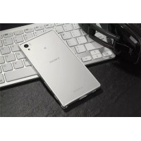 Металлический округлый бампер на пряжке для Sony Xperia X  Белый