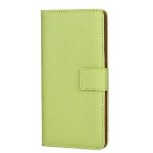 Чехол портмоне подставка на пластиковой основе на магнитной защелке для Sony Xperia X  Зеленый