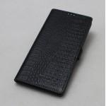 Кожаный чехол горизонтальная книжка подставка текстура Крокодил на пластиковой основе на магнитной защелке для Sony Xperia X