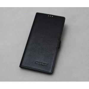 Кожаный чехол горизонтальная книжка подставка на магнитной защелке для Sony Xperia X
