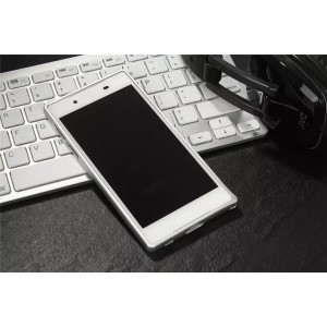 Металлический округлый бампер на пряжке для Sony Xperia XA Белый