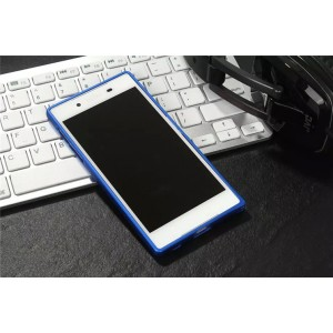 Металлический округлый бампер на пряжке для Sony Xperia XA Синий