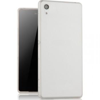 Силиконовый матовый транспарентный чехол для Sony Xperia XA
