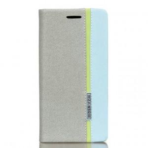 Чехол горизонтальная книжка подставка на силиконовой основе с отсеком для карт и тканевым покрытием для Sony Xperia XA  Белый