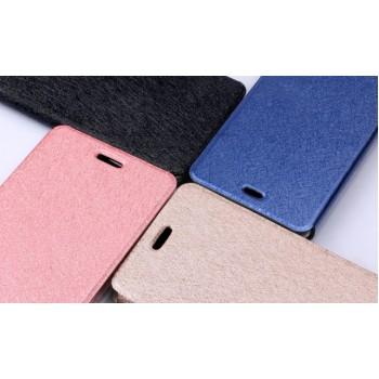 Чехол горизонтальная книжка подставка на силиконовой основе текстура Золото для Xiaomi Mi4i