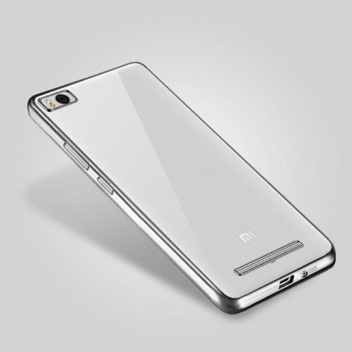 Силиконовый матовый полупрозрачный чехол с текстурным покрытием Металлик для Xiaomi Mi4i